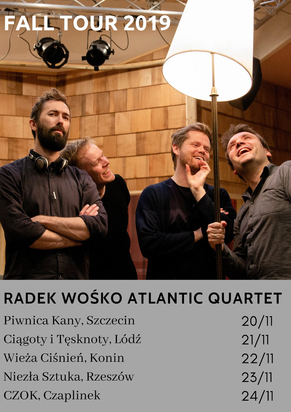 Radek Wośko Atlantic Quartet - trasa