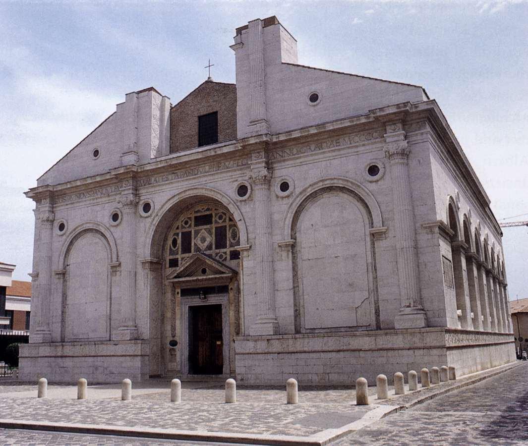Leon battista alberti san francesco rimini for Architecture quattrocento