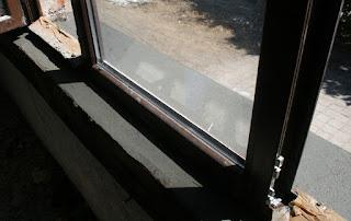 New windowsills in place