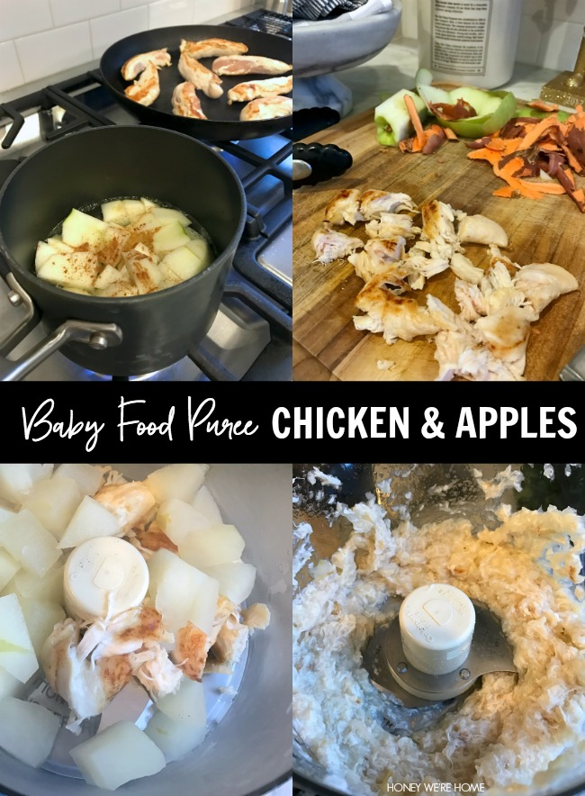 I Added A Couple Dashes Of Cinnamon For Flavor 3 When The Chicken And Apples Are Cooked Puree Them In Food Processor Jordan Was 8 Months Old