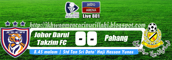Live Streaming Johor Darul Takzim vs Pahang 19 April 2013 - Liga Super 2013