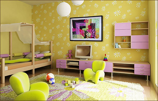 Homes idea: interior design of kids room