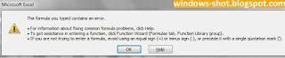 Error Regional Setting Windows