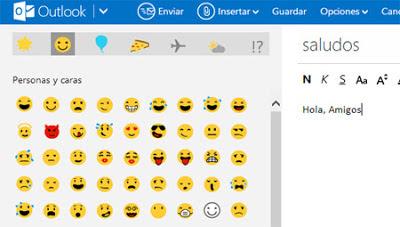 emoticones outlook correo