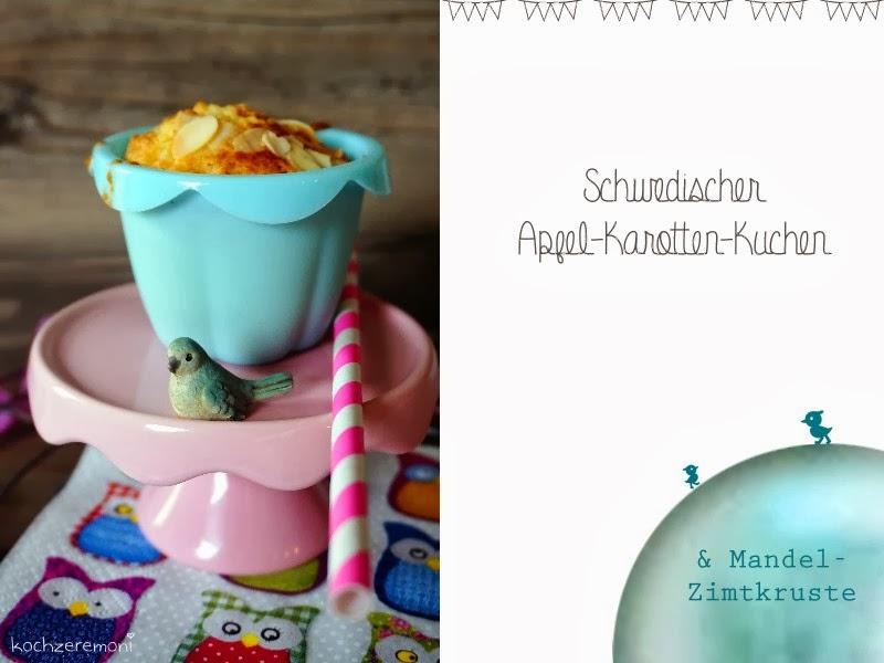 KochzereMoni: Schwedischer Apfel-Karotten-Kuchen mit Mandel-Zimtkruste