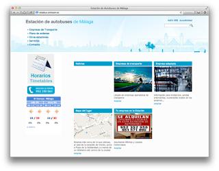 Web de estación de autobuses