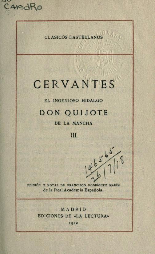 Don Quijote tomo III