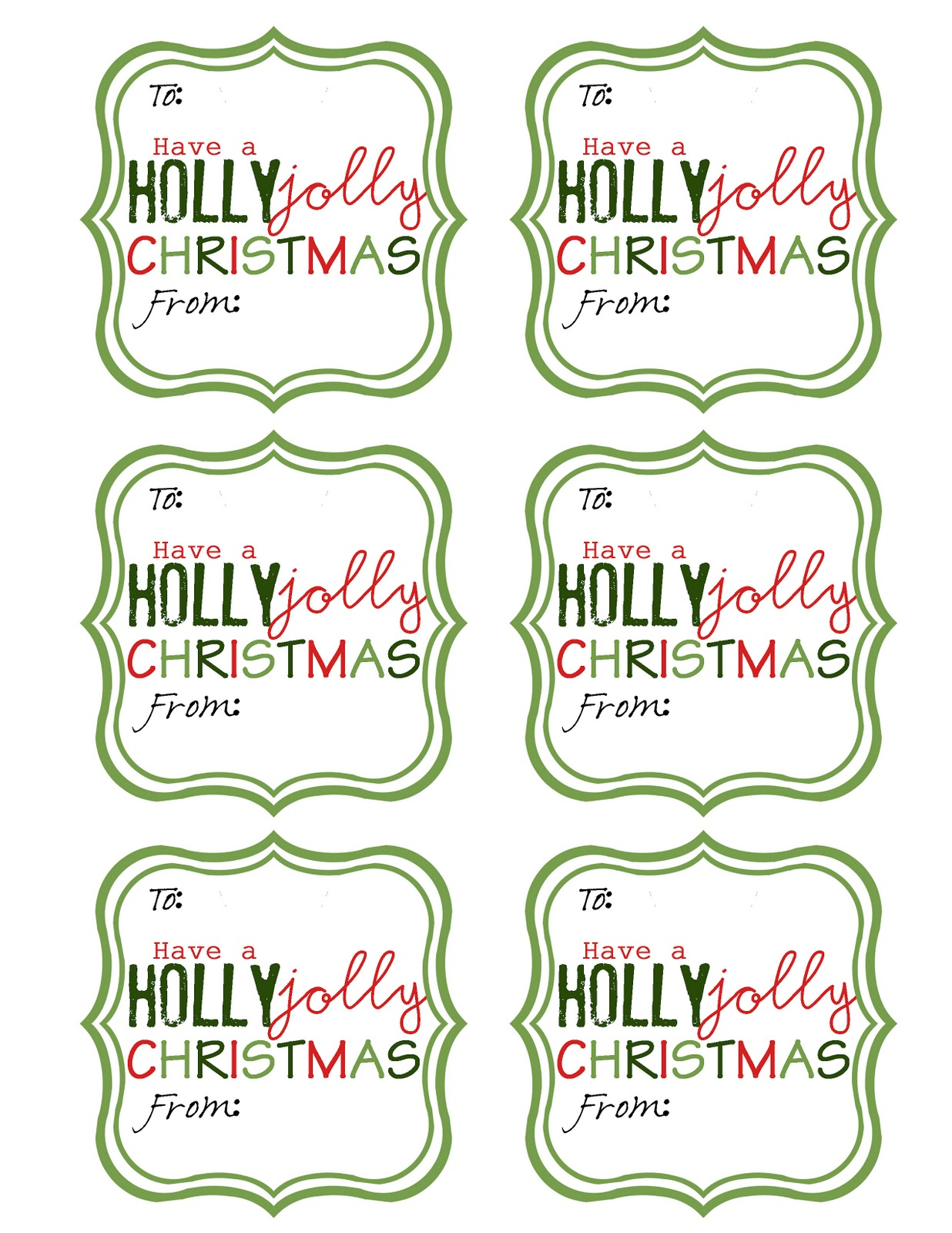 Current image pertaining to christmas tags printable