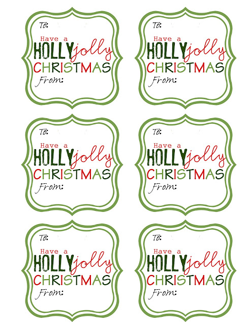 Playful image with regard to printable christmas gift labels