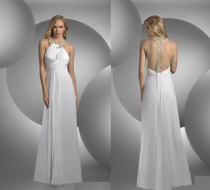 Elegante weiße Ballkleider