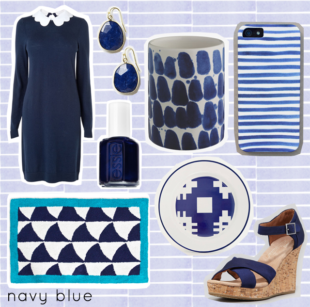 navy blue colour love - homeware, fashion and more