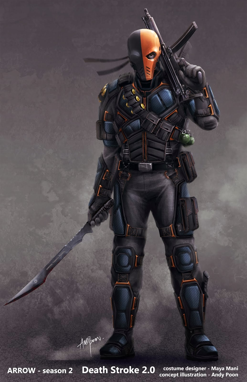 Diseños Death Stroke en Arrow
