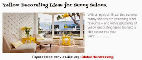 Yellow Decorating Ideas for Sunny Salons.
