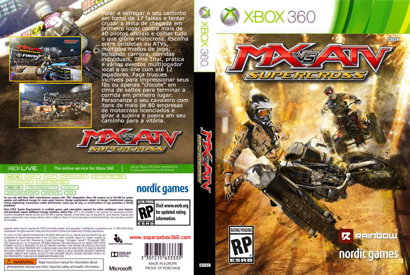 Capa MX VS ATV Supercross Xbox 360
