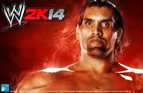 "WWE 2K14 ""The Great Khali"" HQ Wallpaper Download, wwe2k14 official wallpaper, 2k14 wwe wallpaper"