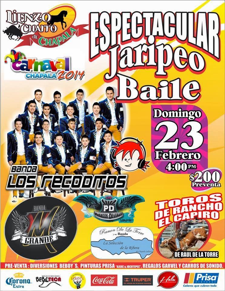 jaripeo baile los recoditos carnaval chapala 2014