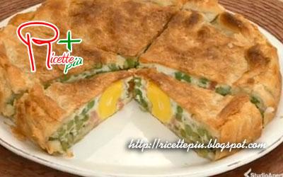 Torta con Piselli Uova e Pancetta di Cotto e Mangiato