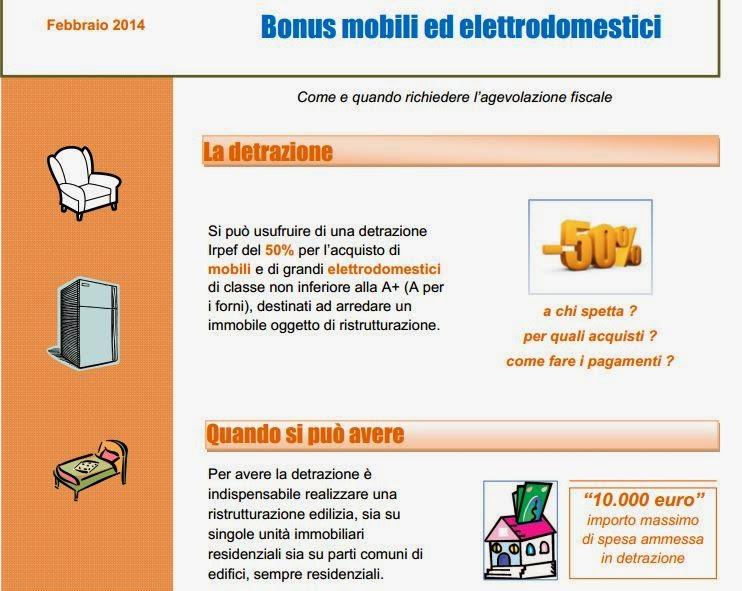 Arredamenti ballabio lissone bonus fiscale mobili 2014 for Bonus fiscale