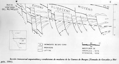 seccion estratigrafica de la cuenca burgos