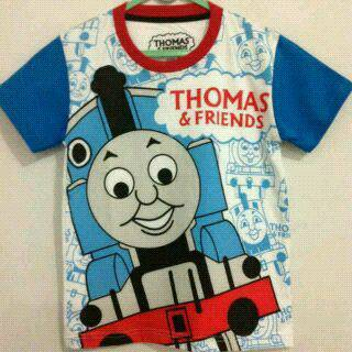 Baju Anak Karakter Thomas Putih Size 1 - 6 Tahun