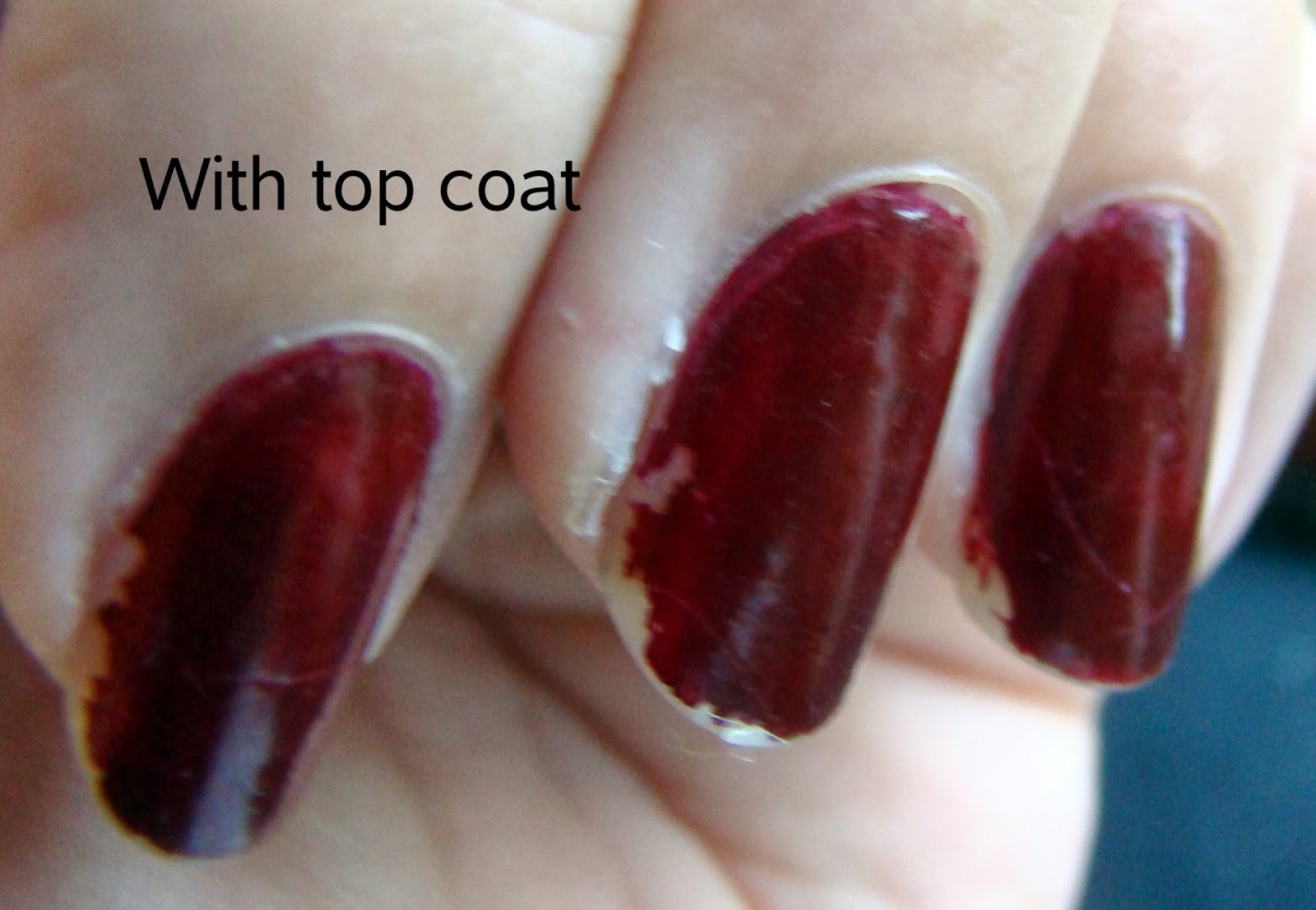 The last person you expected: Sally Hansen No Chip Acrylic Top Coat