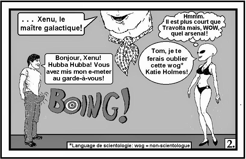 anti-scientologie pastiche BD