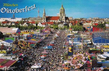 Οκτόμπερφεστ (Oktoberfest) γιορτή μπύρας στο Μόναχο.