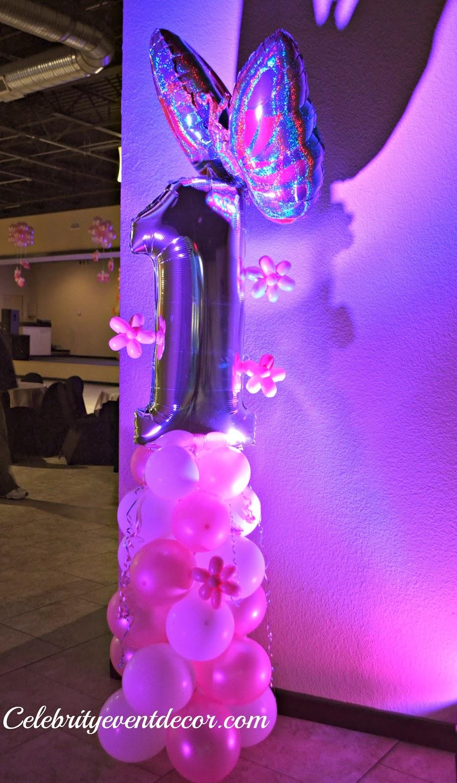 Celebrity event decor banquet hall llc for 1st birthday balloon decoration ideas