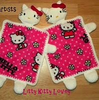 http://www.ravelry.com/patterns/library/little-kitty-lovey-blanket-hello-kitty-inspired-pattern