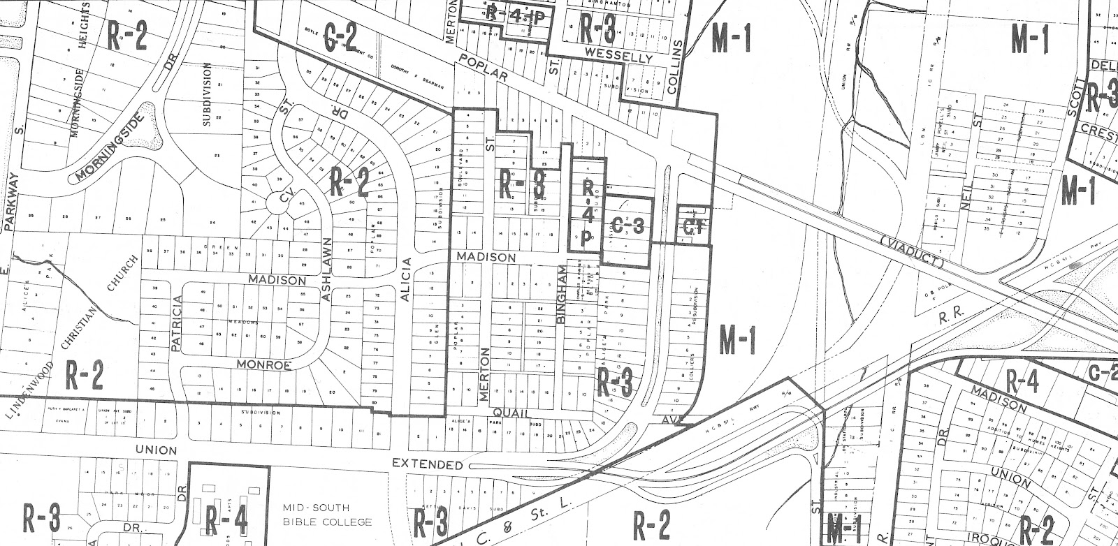 this zoning atlas produced by the memphis and shelby county planning commission in 1967 confirms what we have surmised from the 1964 graphic publications