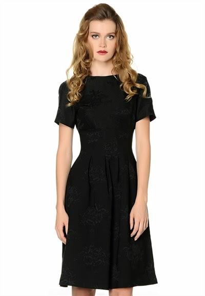 yarım kol elbise, siyah elbise, dar elbise, kısa elbise, pileli elbise, 2015 elbise modelleri, adil ışık elbise