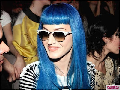 Katy Perry Blue Hair 2012
