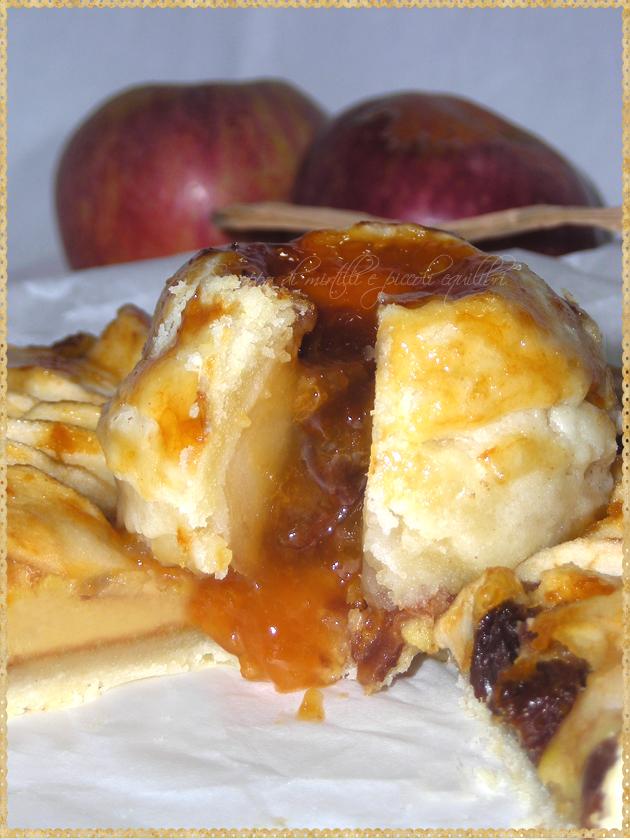 Interno ripieno mela annurca confettura albicocche uvetta