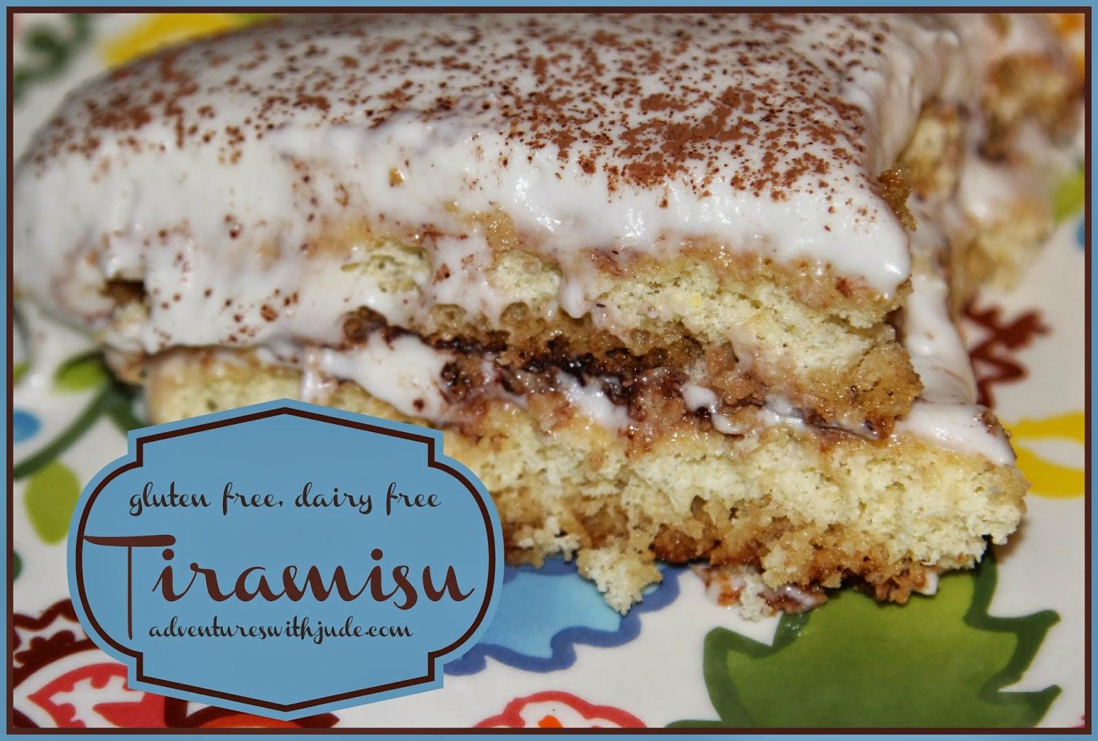 Gluten free, dairy free tiramisu