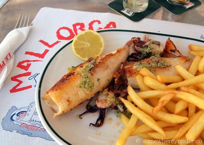 Fresh squid - Mallorca, Spain