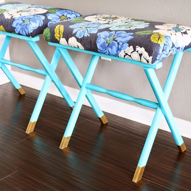 #thriftscorethursday Week 62 | Instagram user: kailochic shows off this Luggage Rack to Bench Conversion
