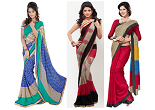 Buy Fabdeal Printed, Embroidered Sarees & Dress Material at Extra 30% OFF | Starts at Rs. 699 at Jabong