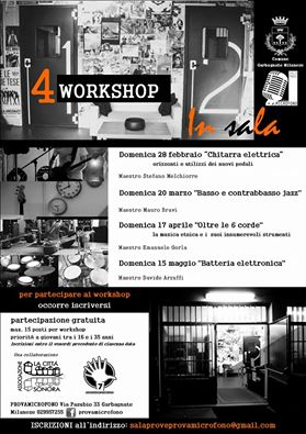 WORKSHOP GRATUITI IN SALA PROVE