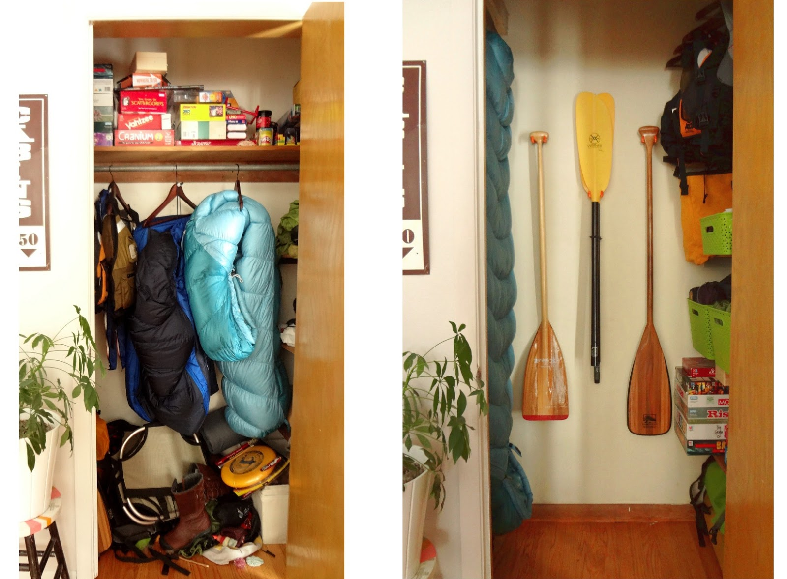 I Bought Some U Shaped Hangers At The Hardware Store So I Could Hang The  Paddles And I Was Pretty Excited To Find Them. I Thought I Would Have To  Stop At ...
