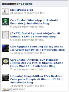 memasang facebook recomendation box
