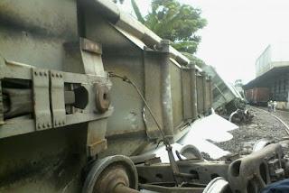 Este jueves se desacarrila tren en Tezonapa Veracruz