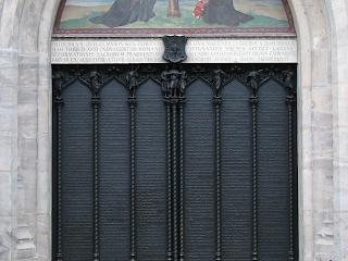 The Wittenberg door where Luther nailed his theses