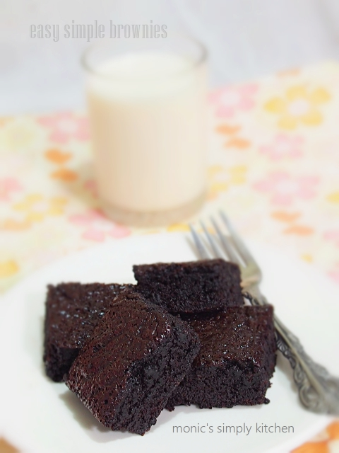 resep brownies simple