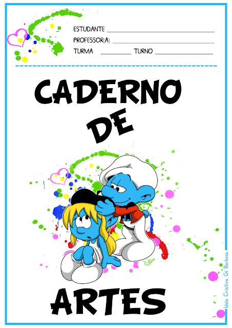 Capas para Caderno Smurfs