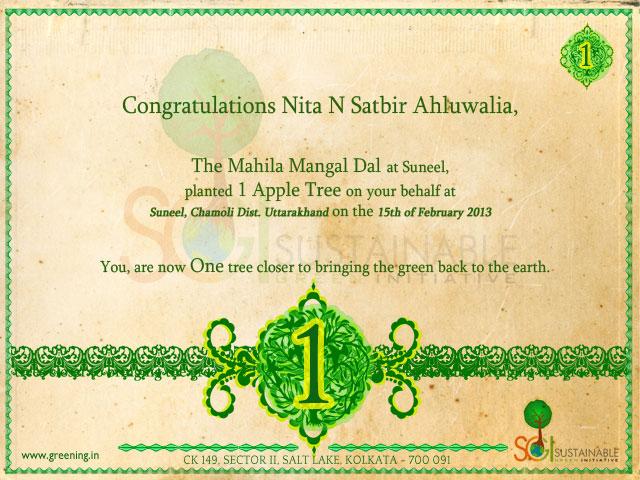 Nita N Satbir Ahluwalia - Mumbai