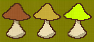 mushrooms free cross stitch pattern
