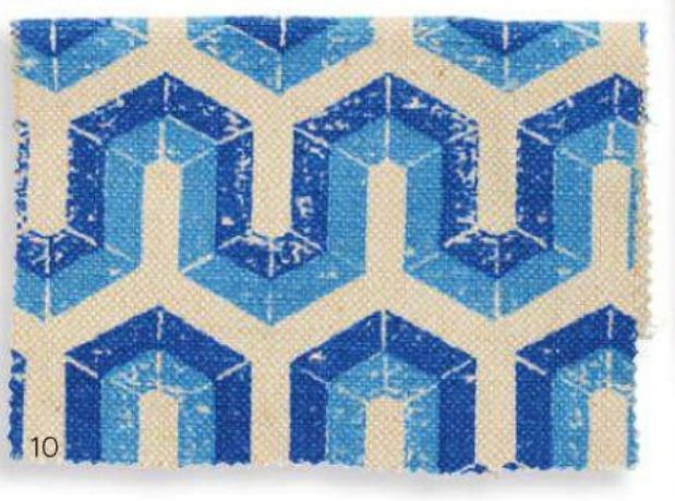 PAMIR Cotton/Jute in Blue Tone 2013 Fabrics Pattern