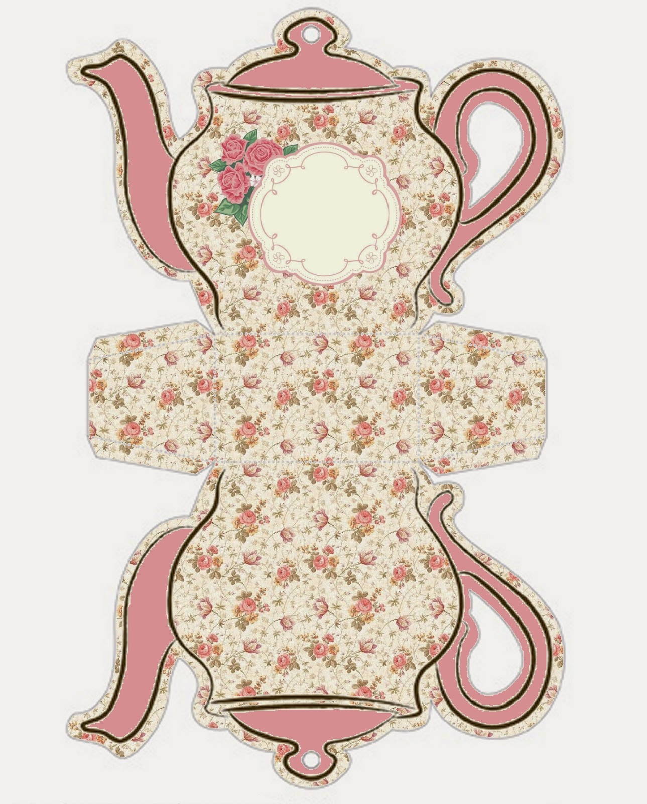image about Teapot Template Printable referred to as Shabby Stylish Teapot Cost-free Printable Packing containers. - Oh My Fiesta! inside of