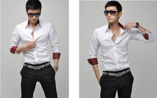 camisas slim fit masculinas