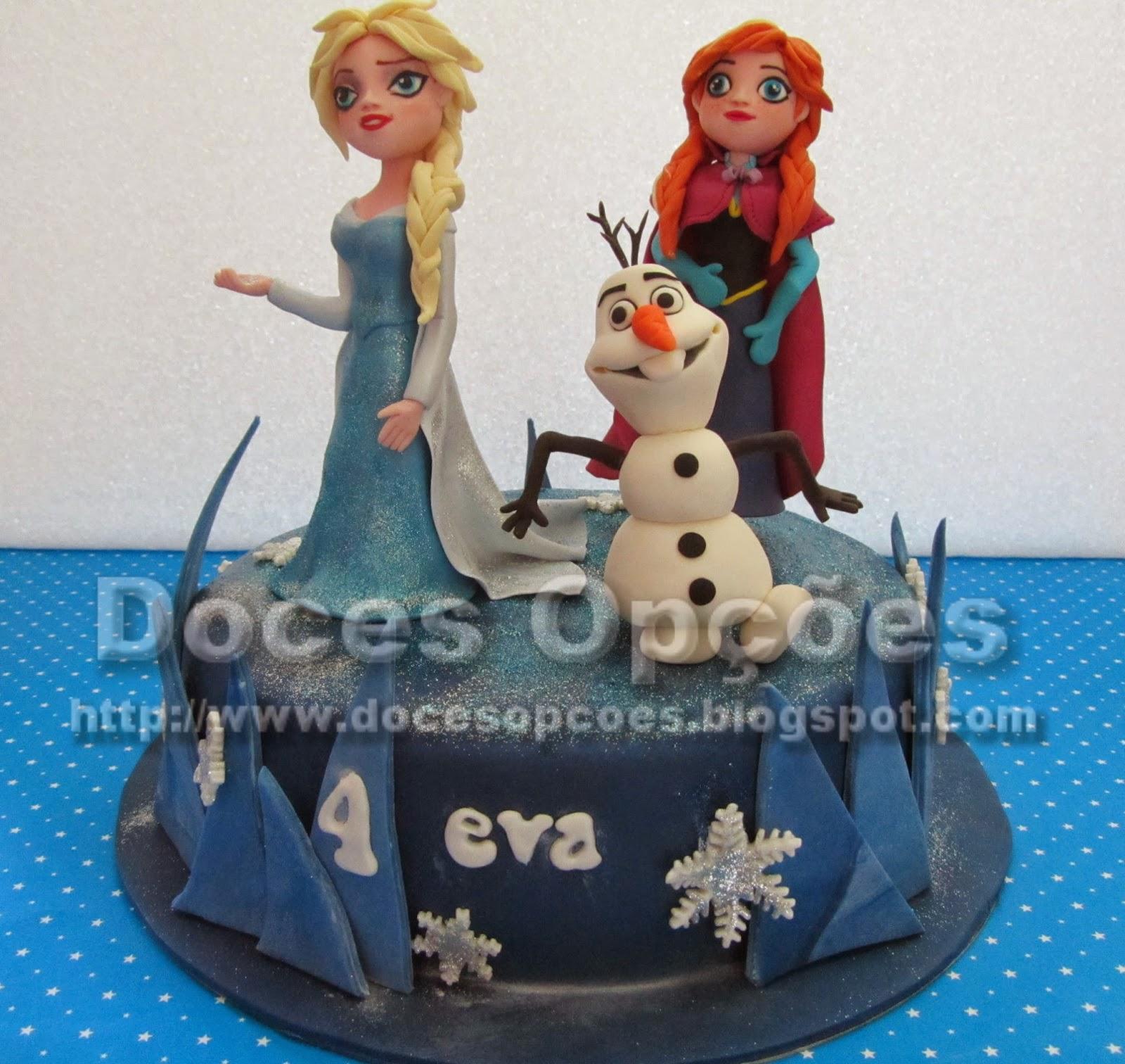 bolo aniversário decorado frozen